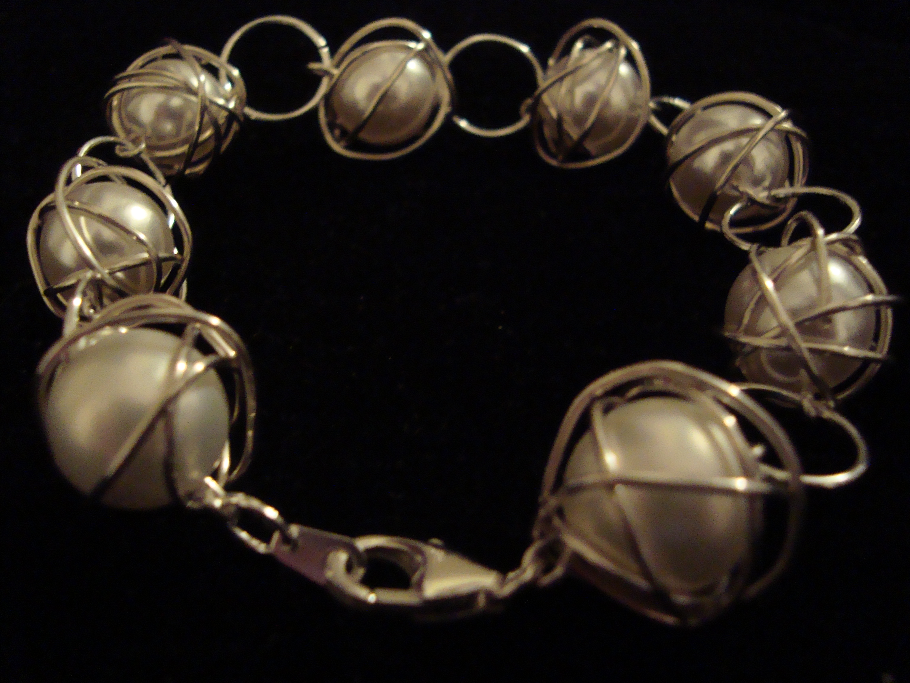 One-of-a-kind Wrapped Pearl Bracelet