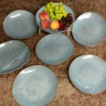 Set of 7 plates great for breakfast, lunch, or dinner.
