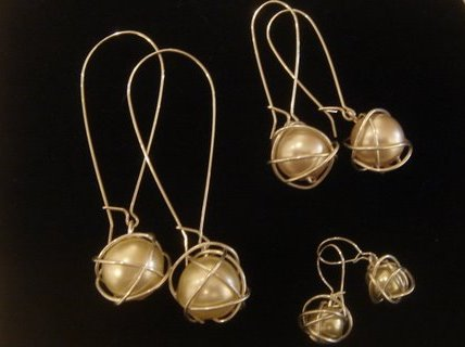 Assortment of Wrapped Pearl Earrings